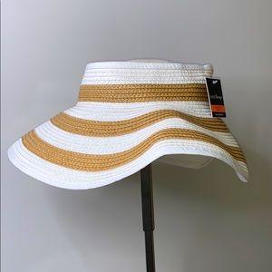 WEST LOOP White Tan Paper Straw Sun Beach Packable